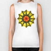 polygon Biker Tanks featuring Star polygon by LudaNayvelt