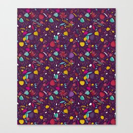 purple seeds Canvas Print