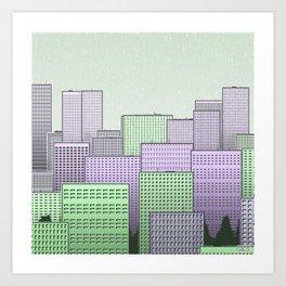 Generative Skyline 2 Art Print