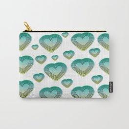 green hearts Carry-All Pouch