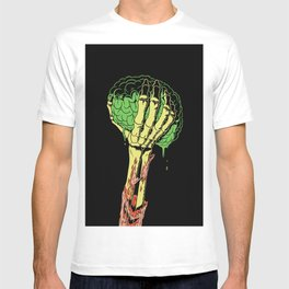 Zombie Skeleton Brain Vintage T-shirt