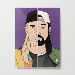 Jay & Silent Bob Metal Print