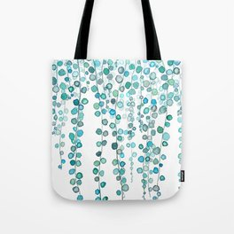 String Of Pearls plants watercolor 2 Tote Bag
