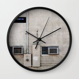 Back Alley Abstract De Sijl Wall Clock