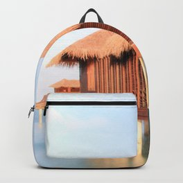 Tropical Maldives Sunrise Beach Bungalows Backpack