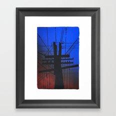 Information Tubes Framed Art Print