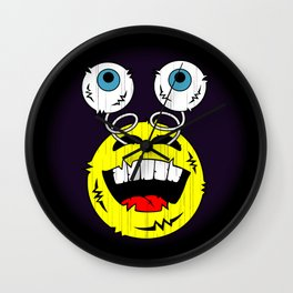 FREAKIN' LAUGHING EMOTICON! Wall Clock