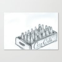 coca cola Canvas Prints featuring Coca Cola by Koshila Perera
