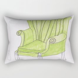 green chair Rectangular Pillow