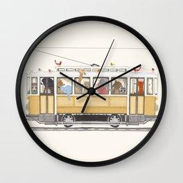 a city adventure Wall Clock