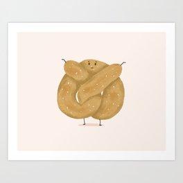 Chubby Pretzel Art Print