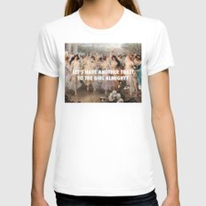 Floralia | Girl Almighty LARGE Womens Fitted Tee White