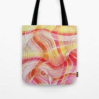 acid Tote Bags featuring Acid by Fine2art