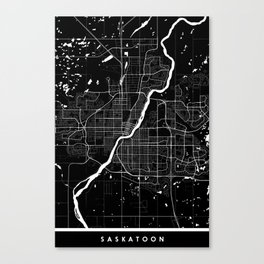Saskatoon - Minimalist City Map Canvas Print