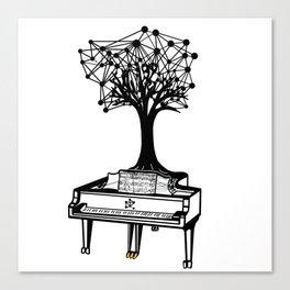 the Piano Canvas Print