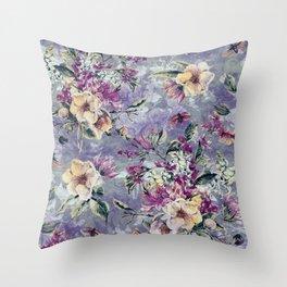 Floral Ocean IV Throw Pillow