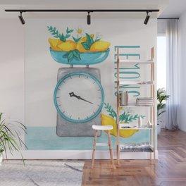 Lemon Kitchen Scale 2 Wall Mural