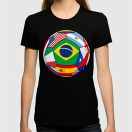 Ball With Various Flags T-shirt