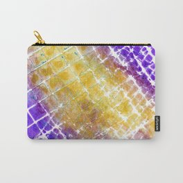 Purple and Gold Squared Carry-All Pouch