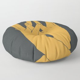 Hands mask Floor Pillow