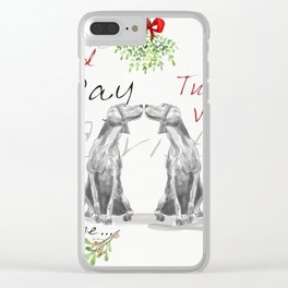 SECOND DAY OF CHRISTMAS WEIMS Clear iPhone Case