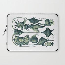 Ernst Haeckel Peridinea Plankton Algae Teal Laptop Sleeve