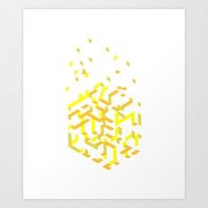 La cube blanche Art Print