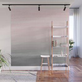 Touching Blush Gray Watercolor Abstract #2 #painting #decor #art #society6 Wall Mural