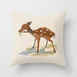 Formosan Sika Deer Throw Pillow