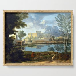 Nicolas Poussin Landscape with a Calm Serving Tray