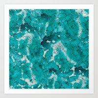 Blue depths Art Print