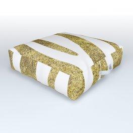 Golden exotics - Zebra and crisp white Outdoor Floor Cushion