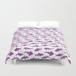 Violet Sharks Duvet Cover