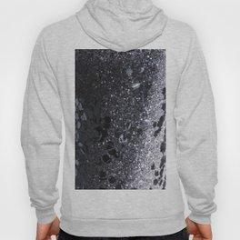 Black and Gray Glitter Bomb Hoody