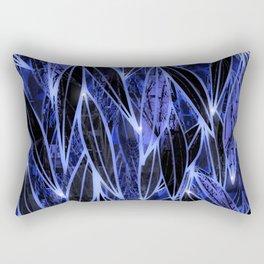 Blue Bamboo Night Print Rectangular Pillow