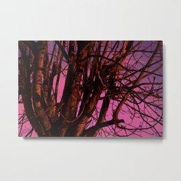 Spooky Trees - Pink  Metal Print