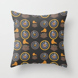 Gramophone and vinyls Throw Pillow