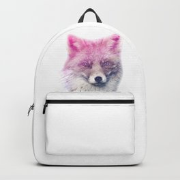 FOX SUPERIMPOSED WATERCOLOR Backpack