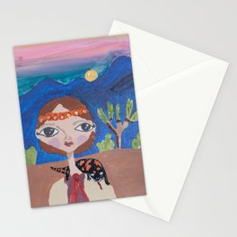 ~ Gila Monster ~ 10 Year Old Amelia's Arizona Critter Girl Stationery Cards