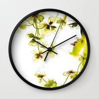 clover Wall Clocks featuring Clover by Ekaterina Koroleva