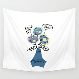 Quilling, flowers in vase 2 Wall Tapestry