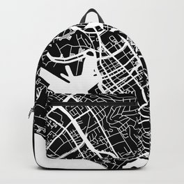 Street MAP Honolulu // Black&White Backpack