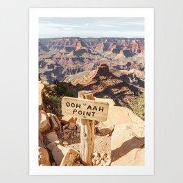 Viewpoint Grand Canyon National Park Arizona Photo   Nature Landscape Print   USA Travel Photography Art Print
