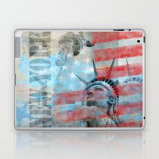 Lady Liberty stars and stripes artwork Laptop & iPad Skin