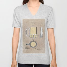 patent Beer Mugs Unisex V-Neck