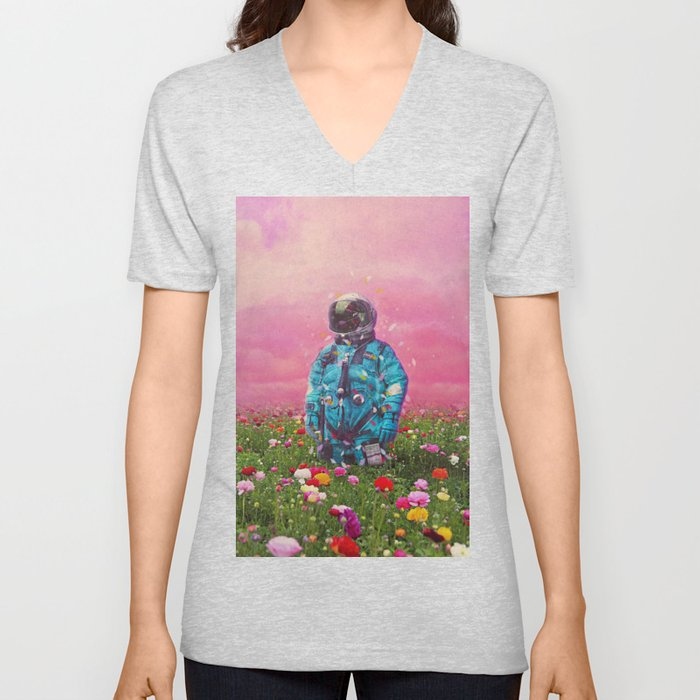 The Flower Field Unisex V-Neck