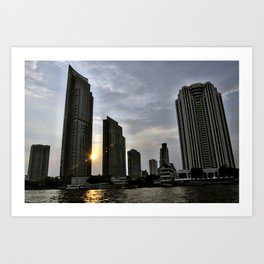Sunset Over Bangkok Art Print