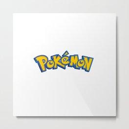 Poke Logo Metal Print
