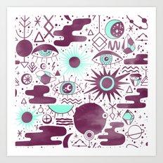 Mystic Watercolor I Art Print