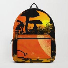 Beautiful unicorn silhouette Backpack